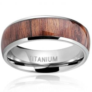 Titanium Engagement Rings for Men Vintage Wedding Band 8mm