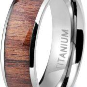 Titanium Engagement Rings for Men Vintage Wedding Band 8mm