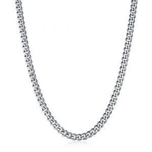 "Stainless Steel Chain Necklace for Men 8.5-30"" Inch,6.5mm Wide"