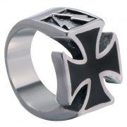 Rock 0594 Farbe Kupfer Steel Color Edelstahl Herren Männer Ring Punk