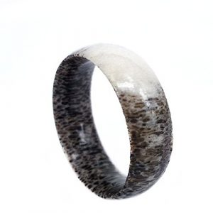 Natural Antler Wedding Band, Men's Ring