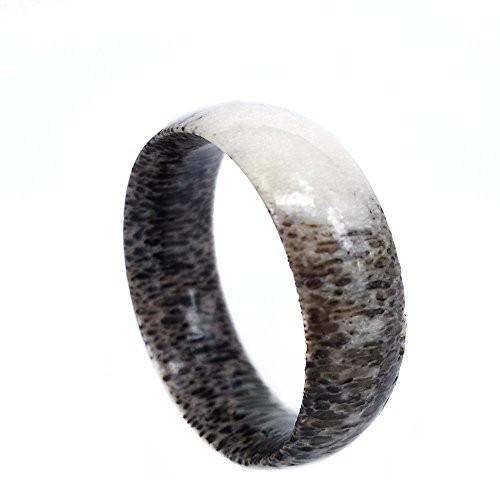 Natural Antler Wedding Band, Men's Ring