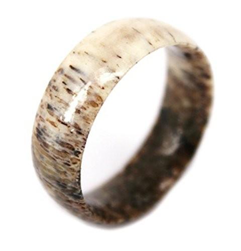 8mm Deer Antler Ring,Natural Beauty