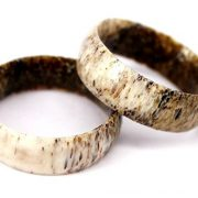8mm Deer Antler Ring,Natural Beauty